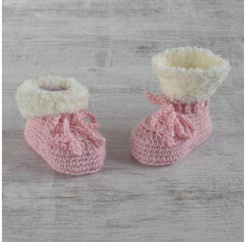 Buciki niemowlęce - wełniane paputki - handmade - ALOM