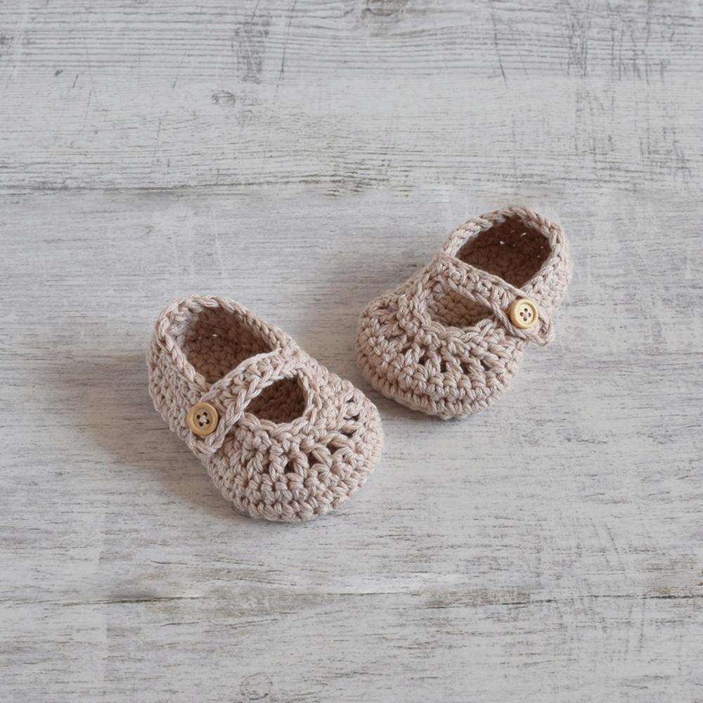 Buciki niemowlęce - ręcznie robione na szydełku - ALOM