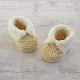 Buciki niemowlęce - zrobione recznie na szydełku - wyprzedaż - ALOM