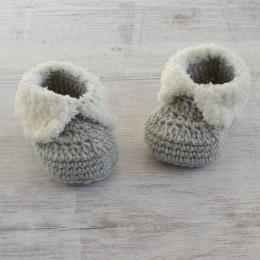 Szydełkowe buciki dla niemowlaka - wyprzedaż - handmade - ALOM
