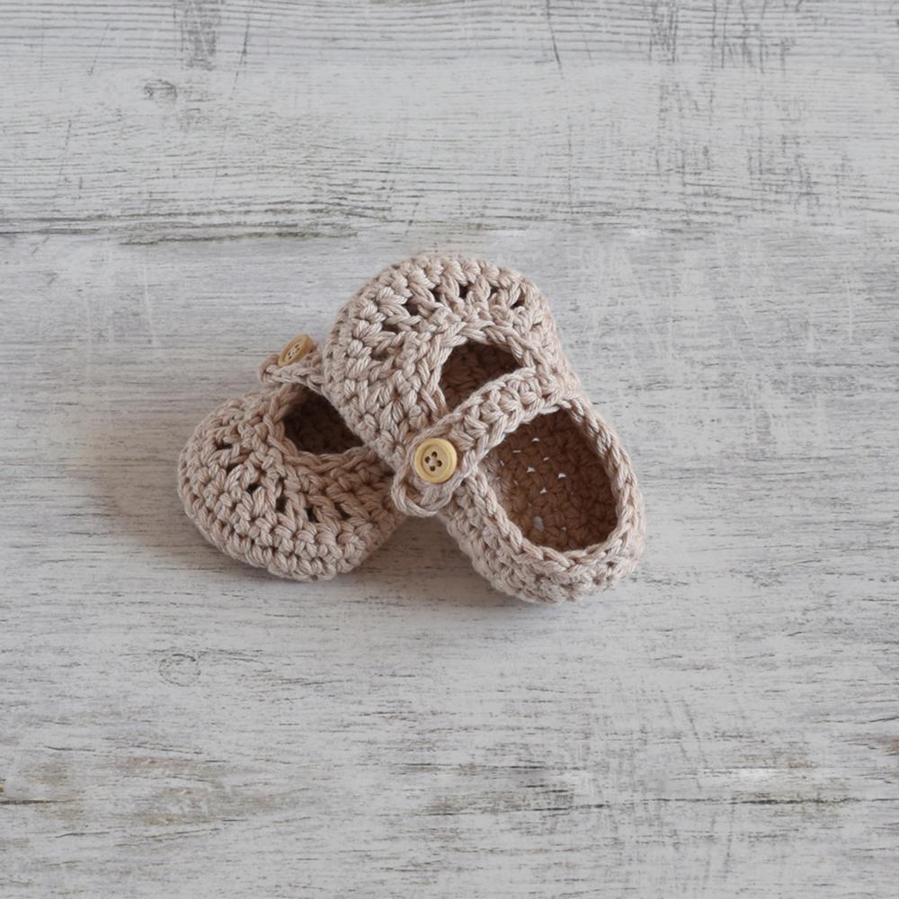 Buciki szydełkowe - bawełna - sandałki - ALOM