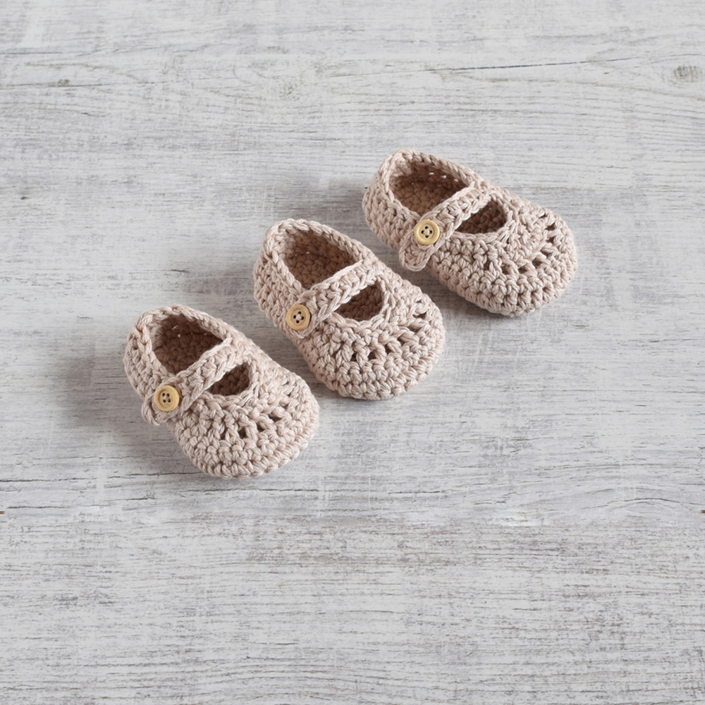 Szydełkowe baleriny - buciki dla noworodka - ALOM
