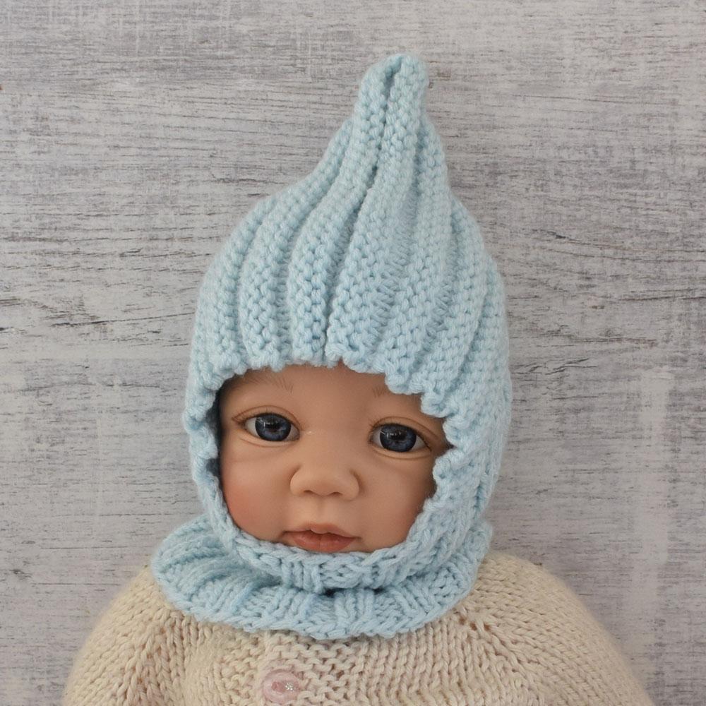 Czapka niemowlęca - kominiarka - wyprzedaż - handmade - ALOM