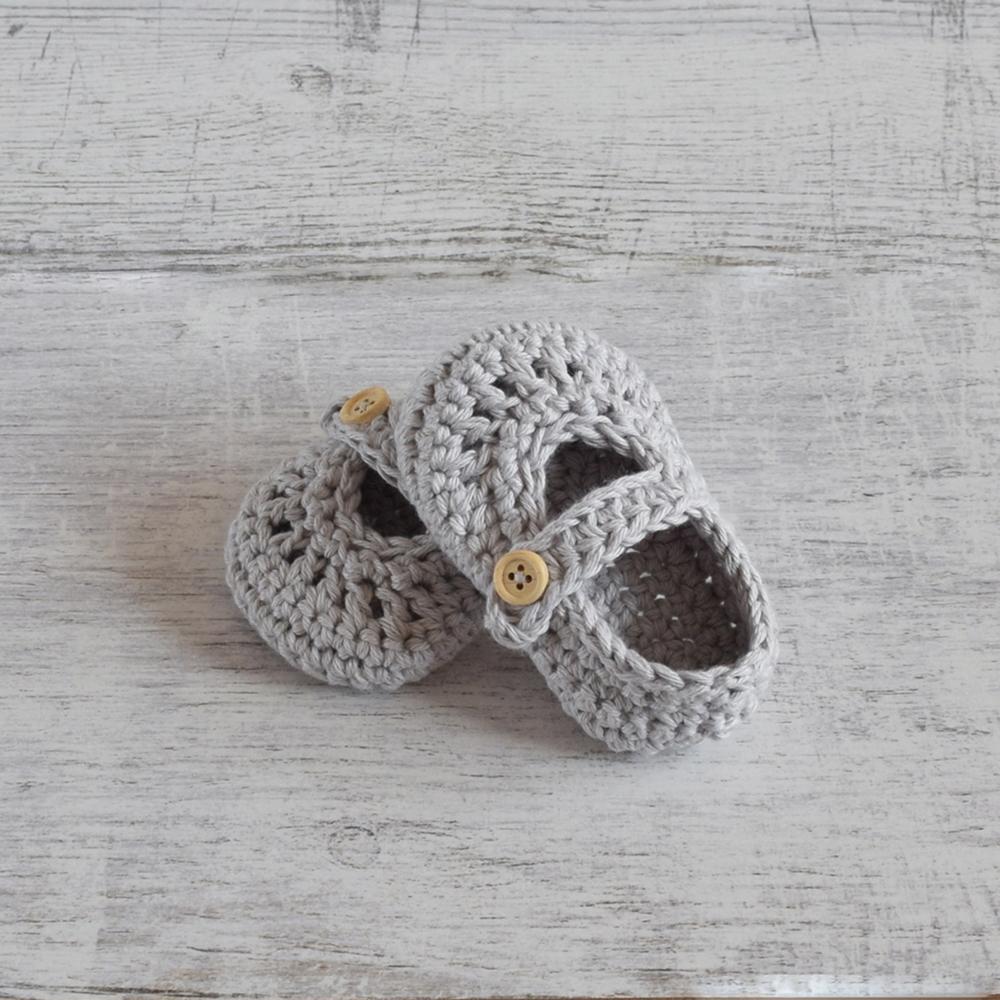 Buciki szydełkowe LUCY Cotton - handmade - ALOM