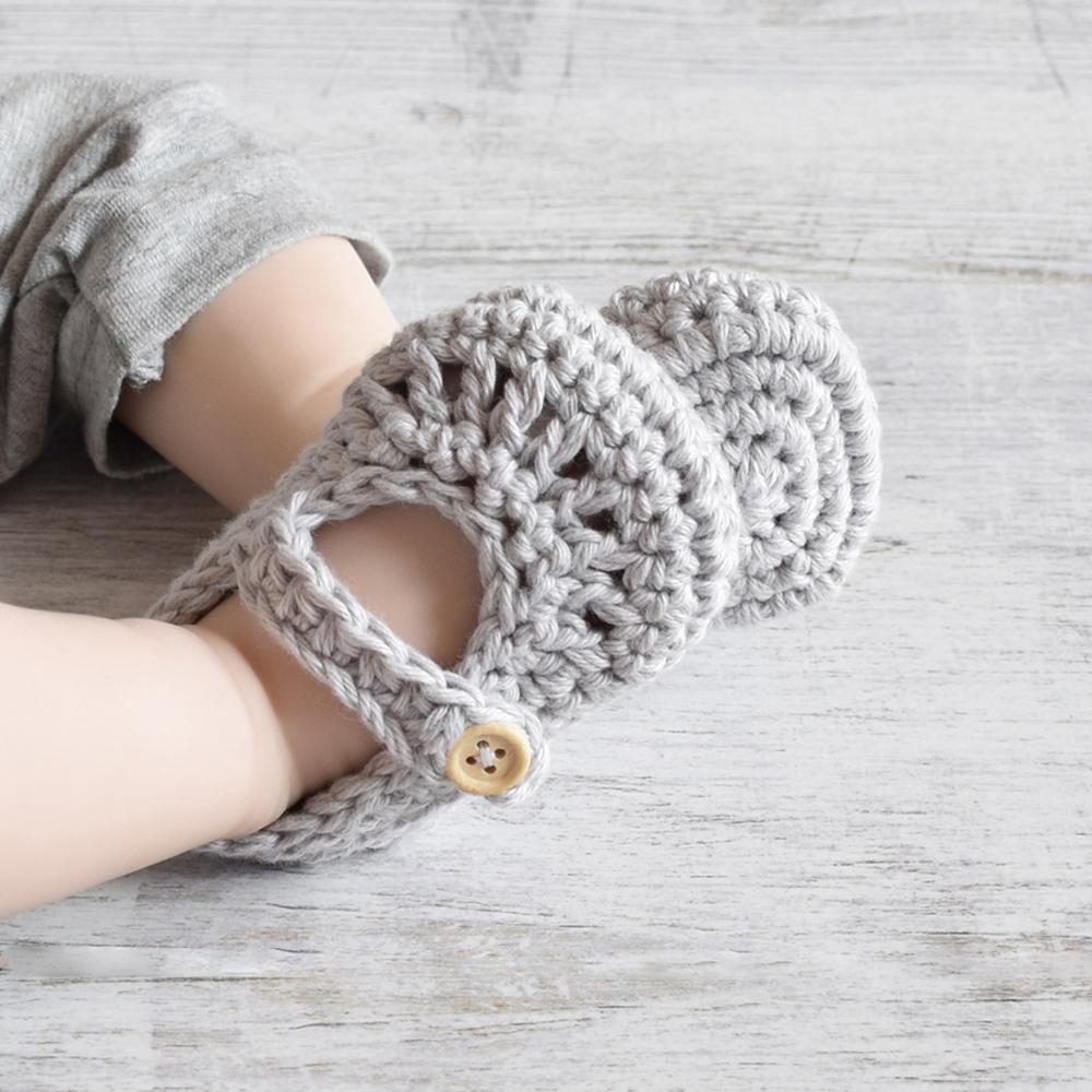 Buciki dla niemowląt - bawełna - ręcznie robione - ALOM