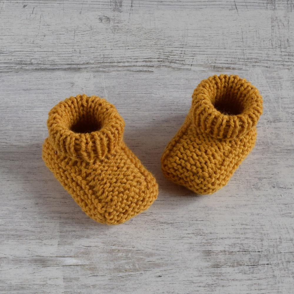 Buciki niemowlęce - niechodki - robione ręcznie na drutach - ALOM