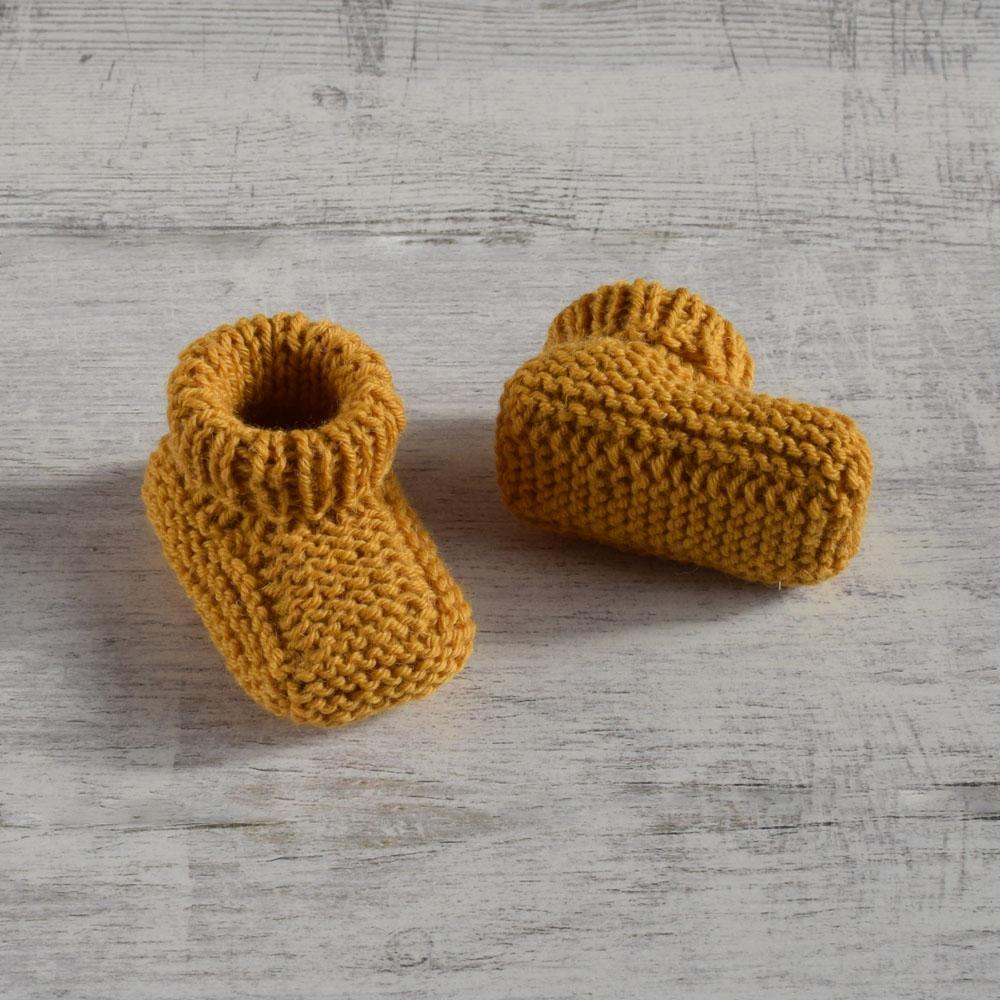 Wełniane buciki - dla noworodka - alpaka i wełna - rękodzieło - ALOM