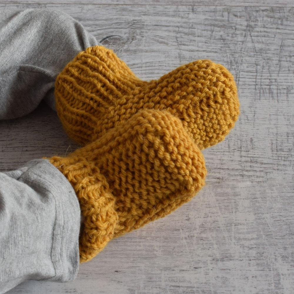 Buciki - botki niemowlęce - jak skarpetki - wyprawka - handmade - ALOM