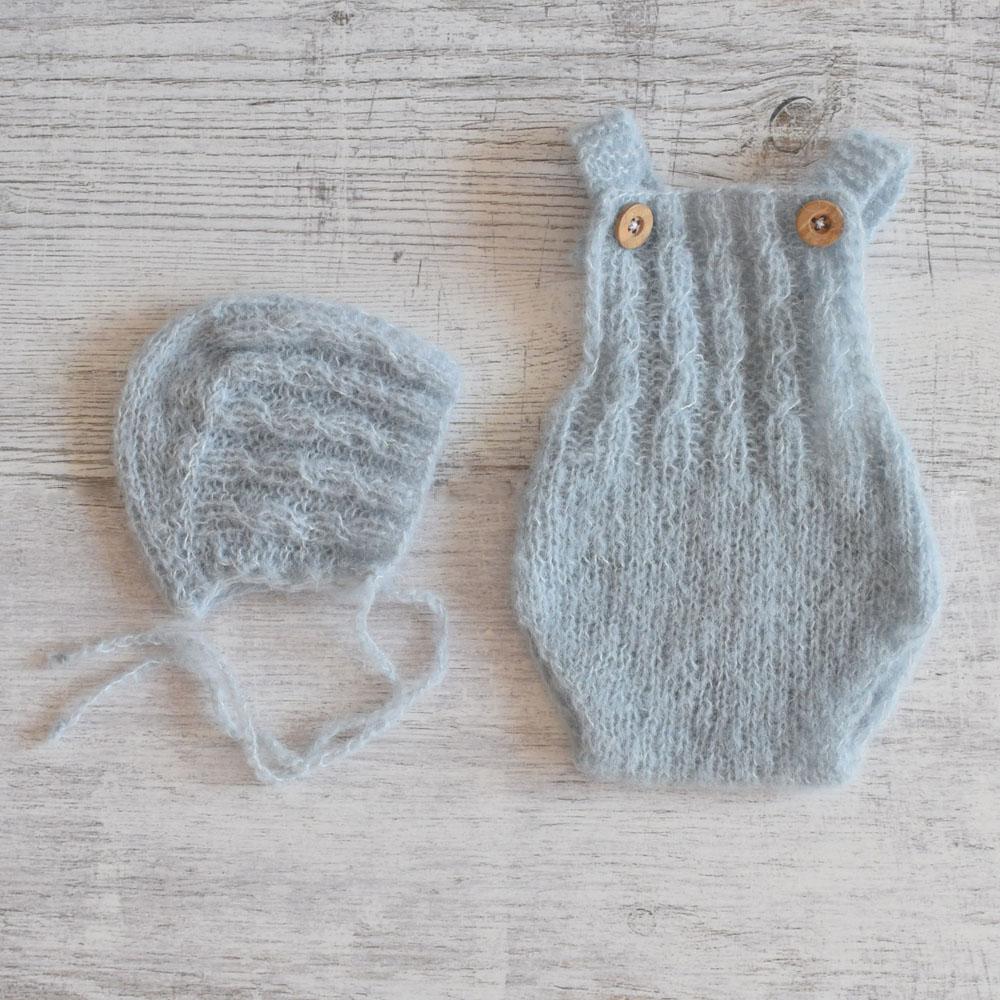 Body i bonetka - komplet - sesja foto - dla noworodka - handmade - ALOM