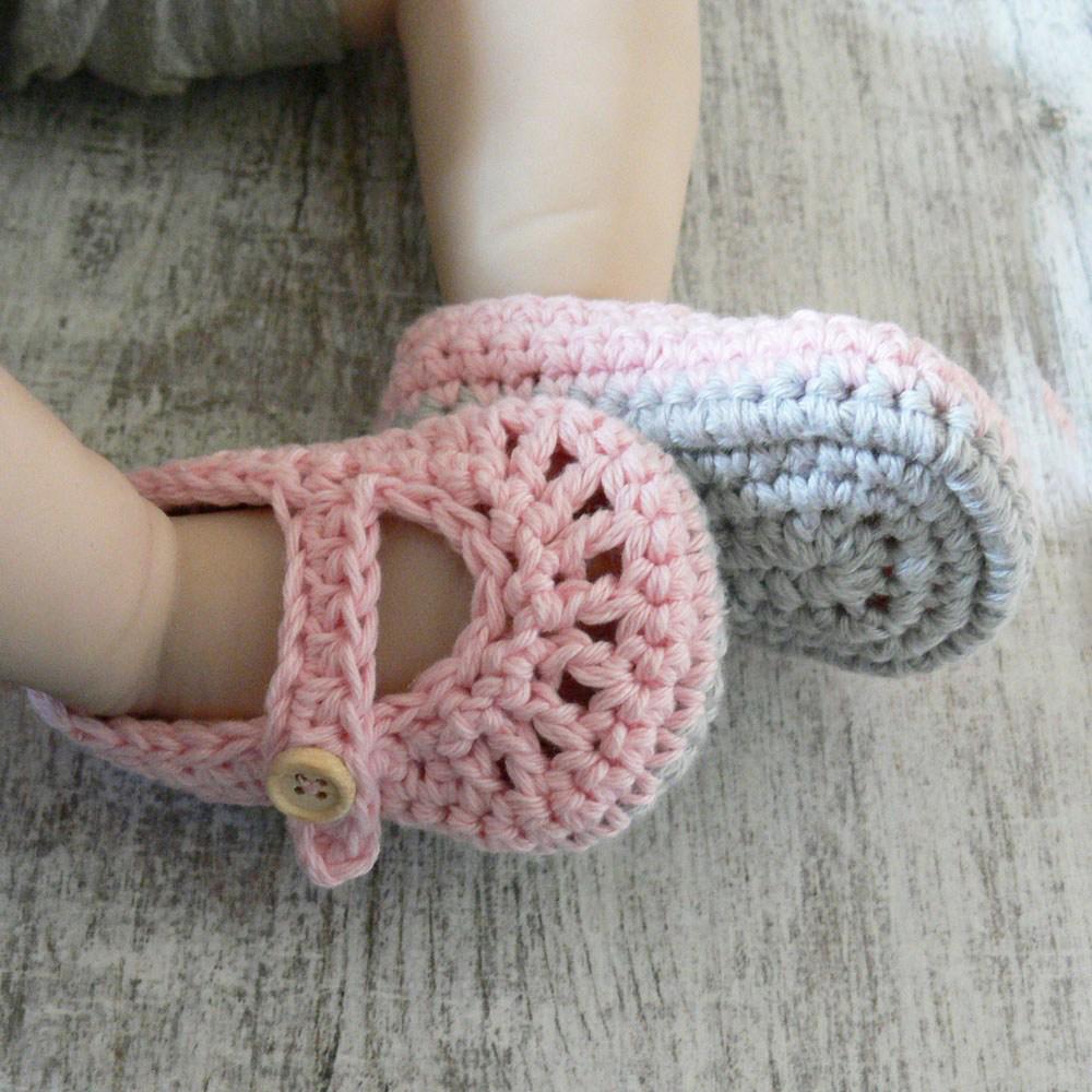 Bawełniane buciki dla dziewczynki - baleriny - ALOM