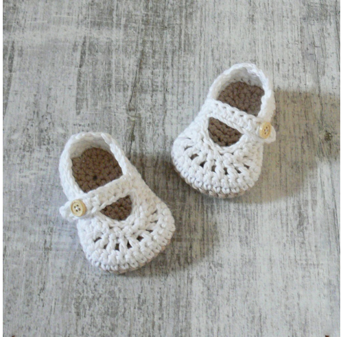 Buciki szydełkowe LUCY Cotton - bawełna - ALOM