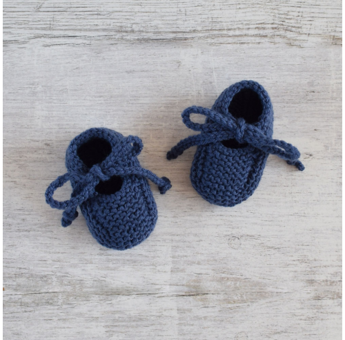 Buciki niemowlęce - niechodki - ręcznie robone na drutach - ALOM