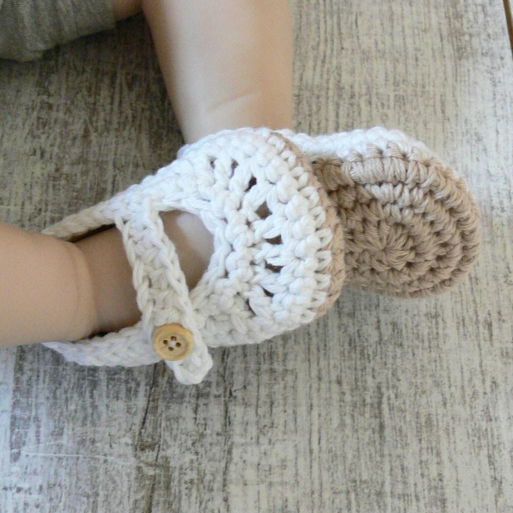 Bawełniane buciki niemowlęce - dla noworodka - ALOM