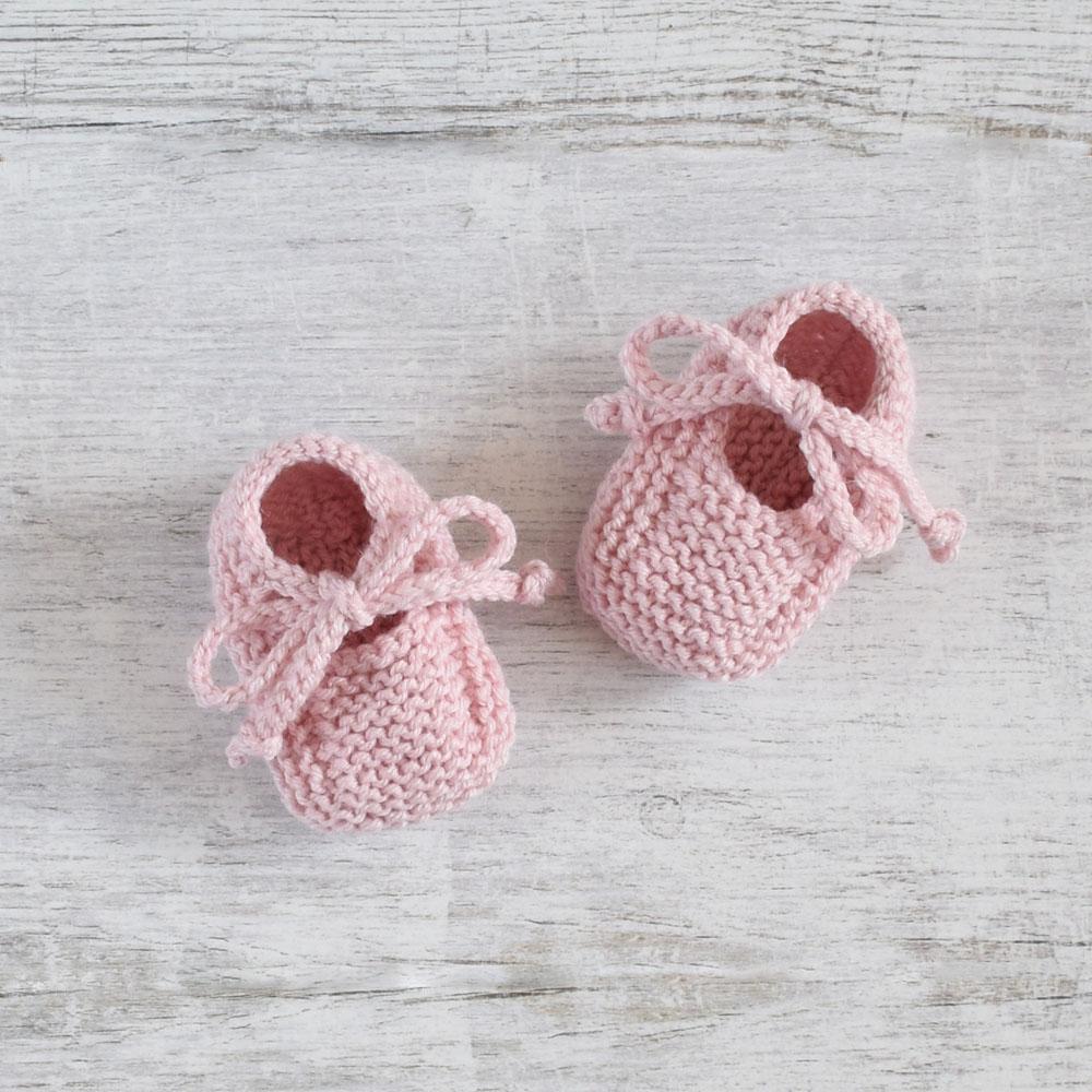 Buciki niemowlęce - dla dziewczynki - wełniane niechodki - ALOM