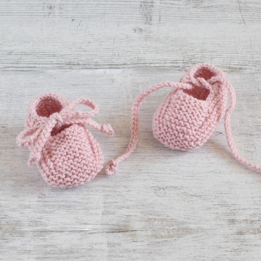 Buciki dla noworodka - ręcznie robione na drutach - na prezent - do chrztu - ALOM