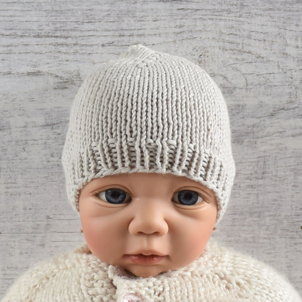 Czapeczka dla niemowlaka - rękodzieło - prezent dla noworodka - ALOM