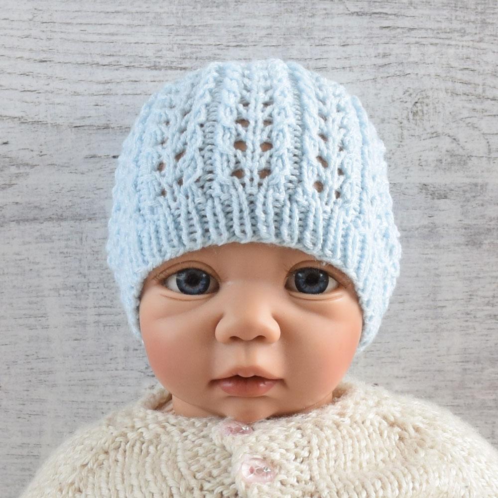 Czapka dla niemowlaka - polskie rękodzieło - prezent dla noworodka - ALOM