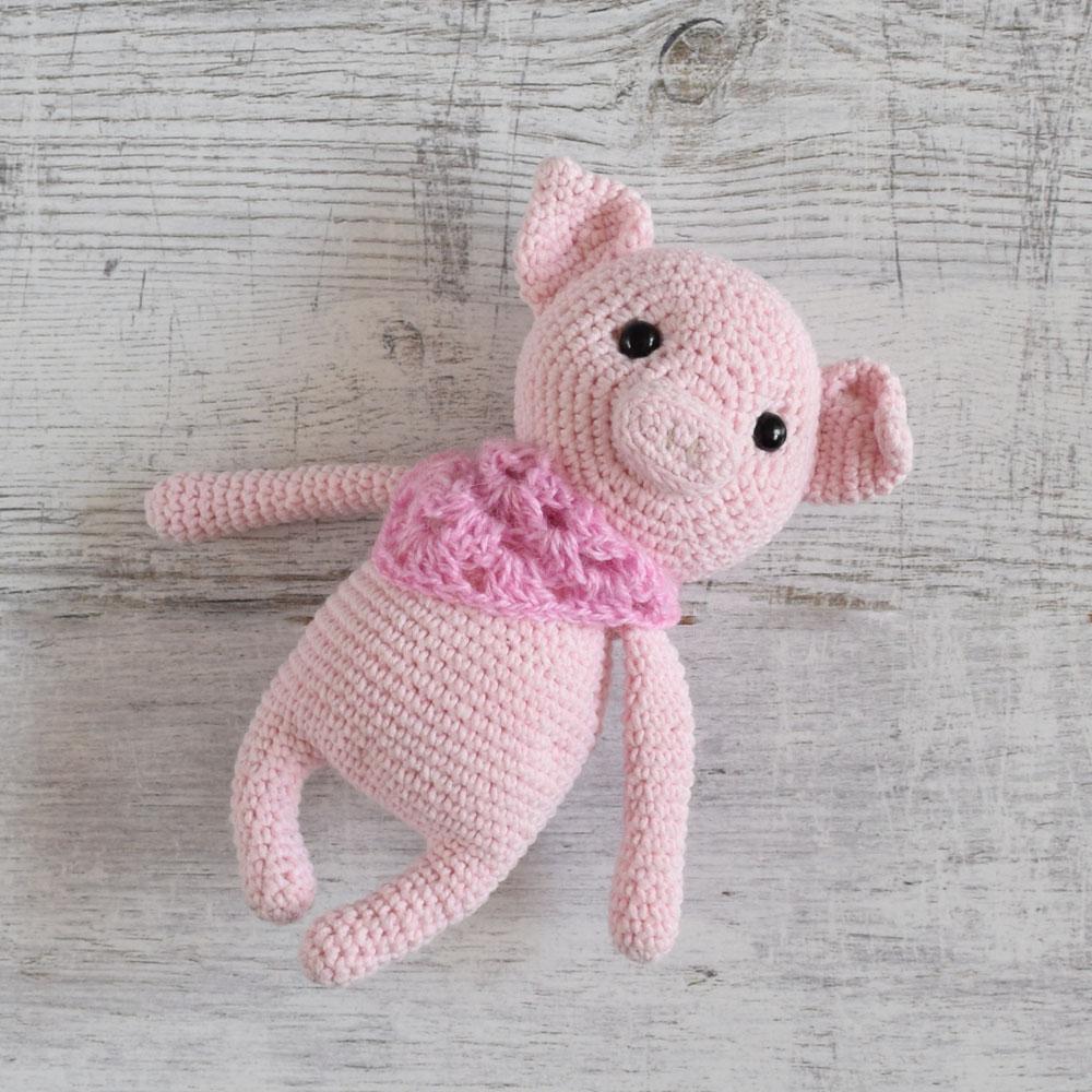 Szydełkowa maskotka - zwierzątko - prezent dla dziecka - handmade - ALOM