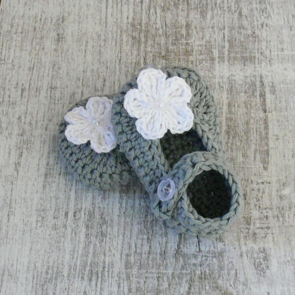Buciki szydełkowe - dla noworodka - handmade - ALOM