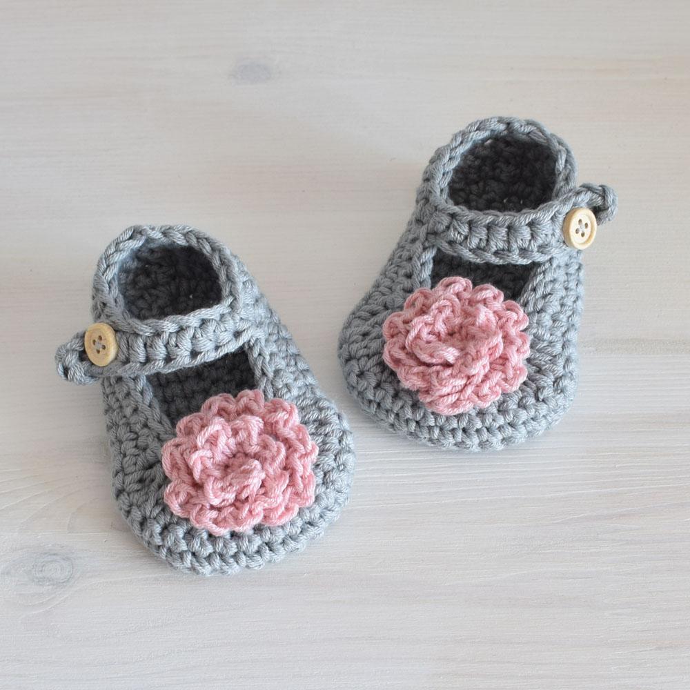Buciki niemowlęce - LIVIA- zrobione ręcznie na szydełku - ALOM
