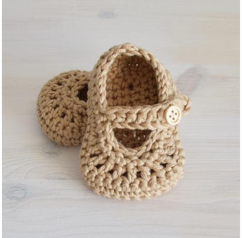 Ręcznie robione buciki - baleriny - prezent dla noworodka - ALOM