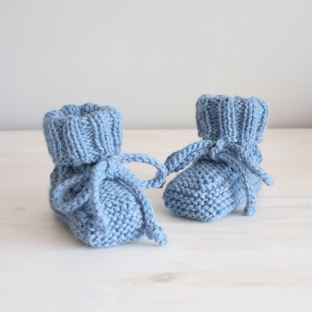 Kozaczki niemowlęce - wełna z alpaką - grube i ciepłe - rękodzieło - ALOM