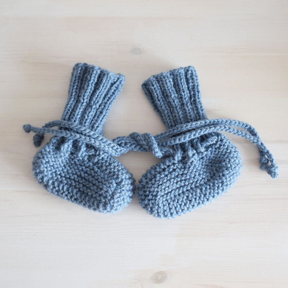 Kozaczki z wełny - buciki dla niemowlaka - rękodzieło - ALOM