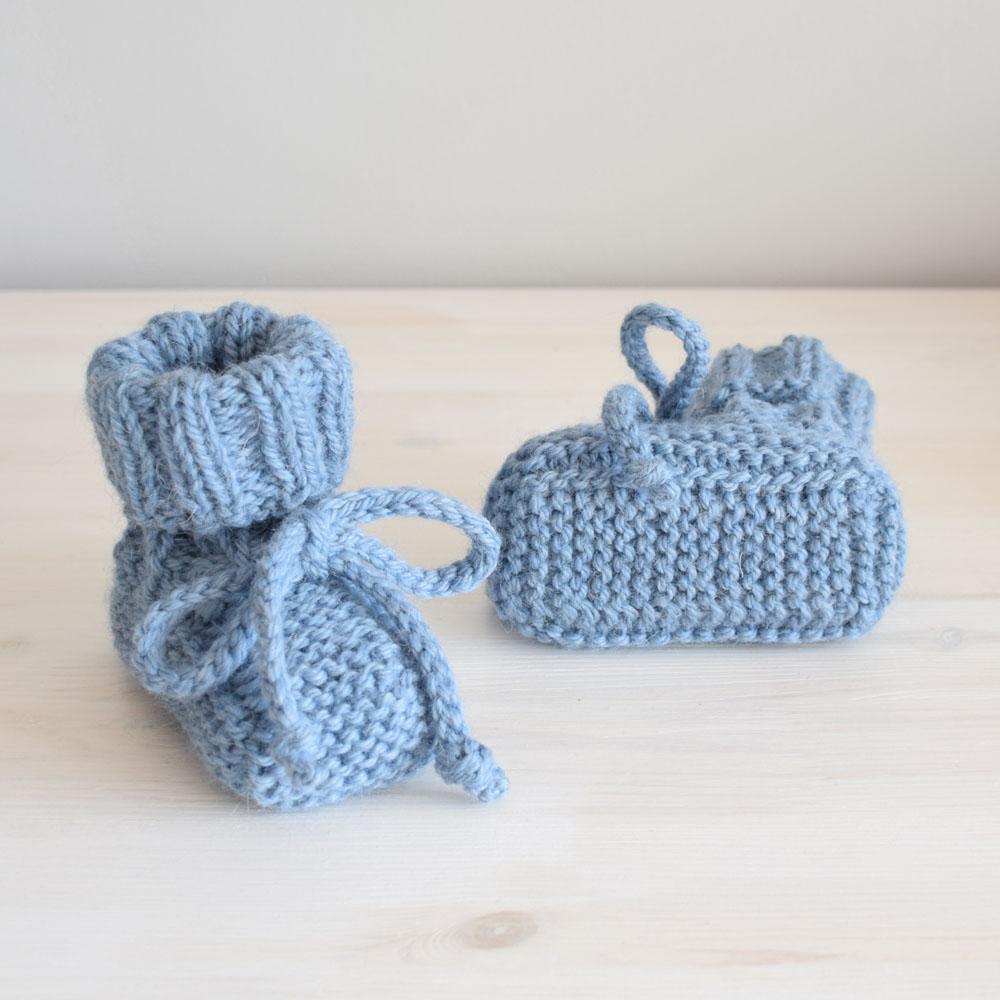 Buciki dla noworodka - kozaczki na zimę -wyprawka -  handmade - ALOM