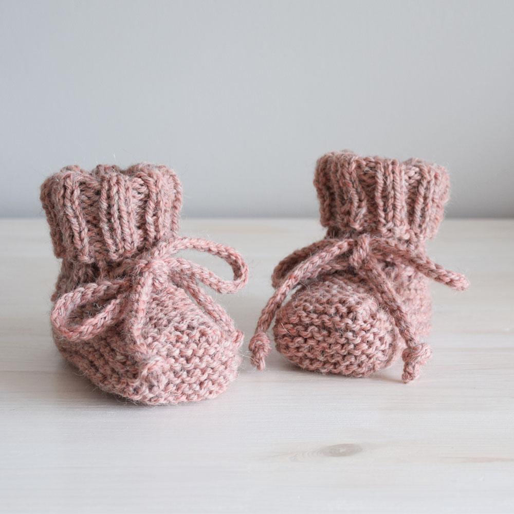 Grube kozaczki dla malucha - ręcznie zrobione drutami - handmade - ALOM