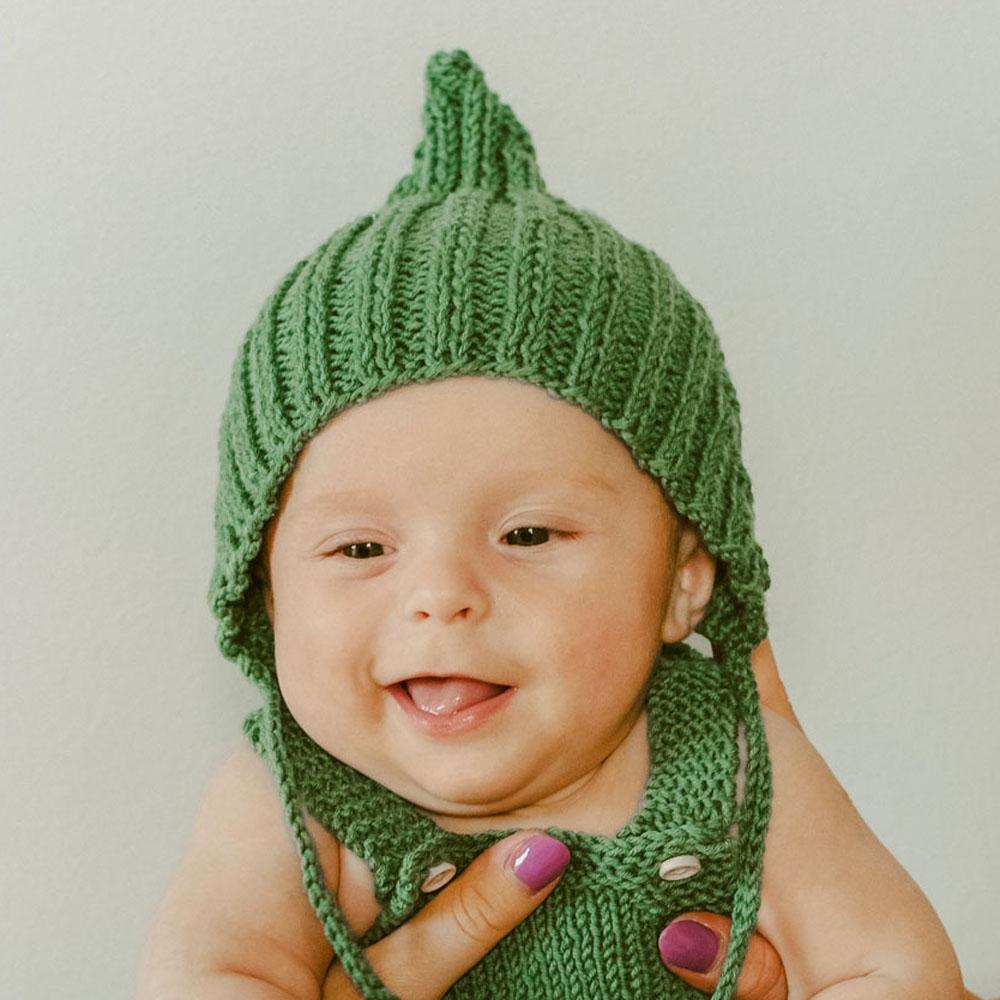 Czapka wiązana - merino - robiona ręcznie na drutach - ALOM