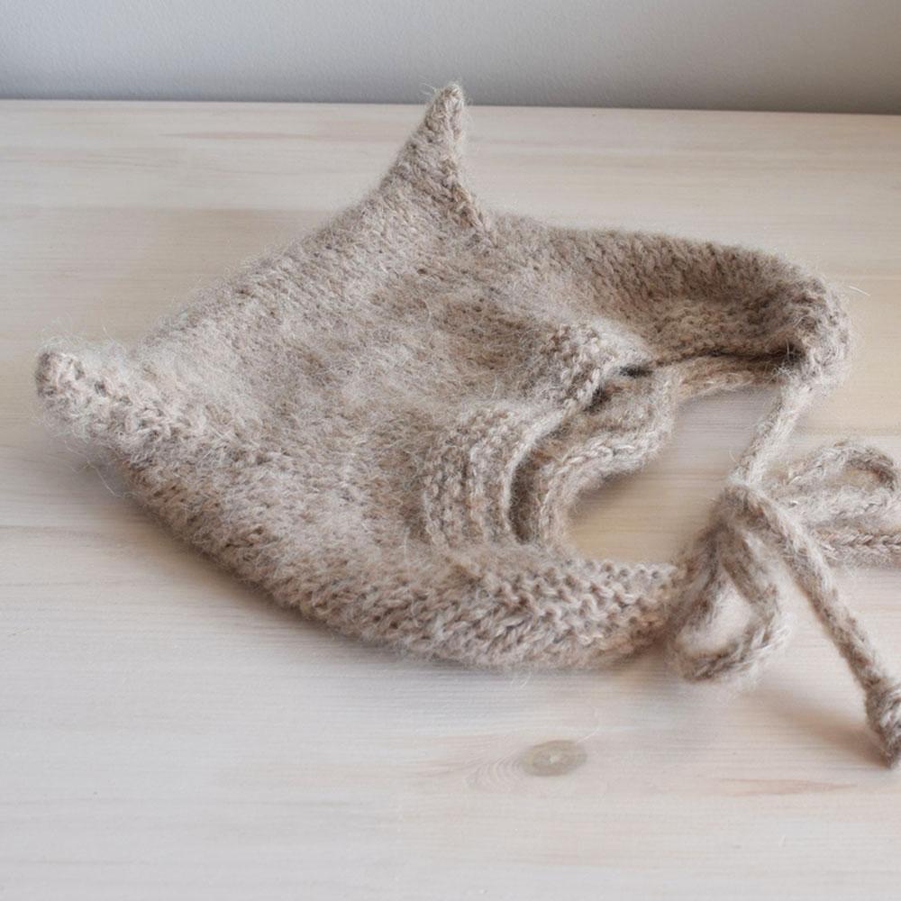 Bonetka z alpaki - wełniana czapeczka - dla roczniaka - rękodzieło - ALOM