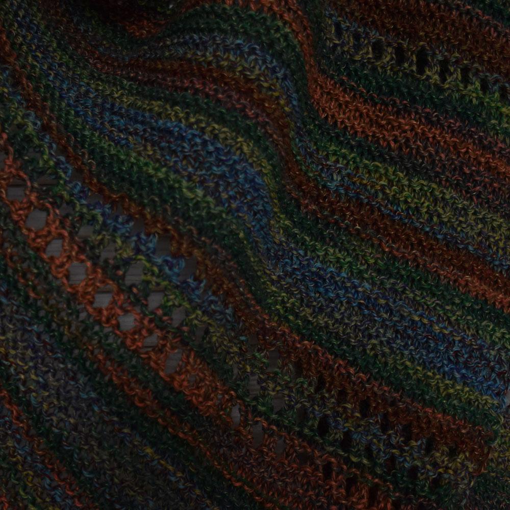 Rękodzieło - cienka chusta - lekki szal - kolory jesieni - ALOM