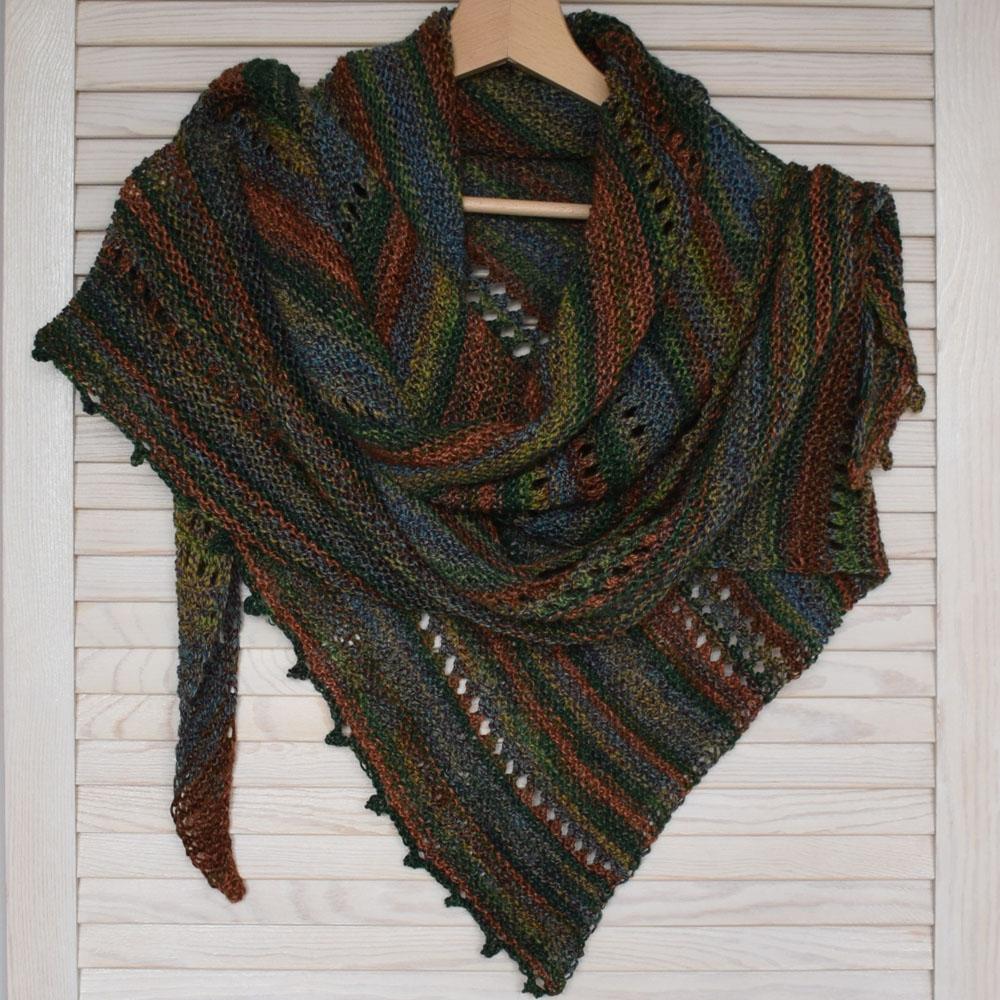 Chusta - ręcznie robiona na drutach - z wełną merino - polskie rękodzieło - ALOM