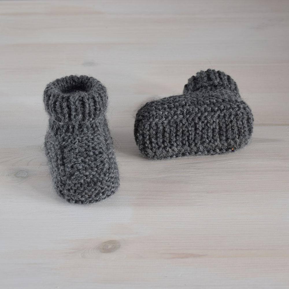 Buciki niemowlęce - krótkie kozaczki - wełna i alpaka - całoroczne - ALOM