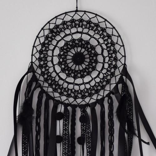 Koronkowy łapacz snów - boho dekoracja - polskie rękodzieło - ALOM