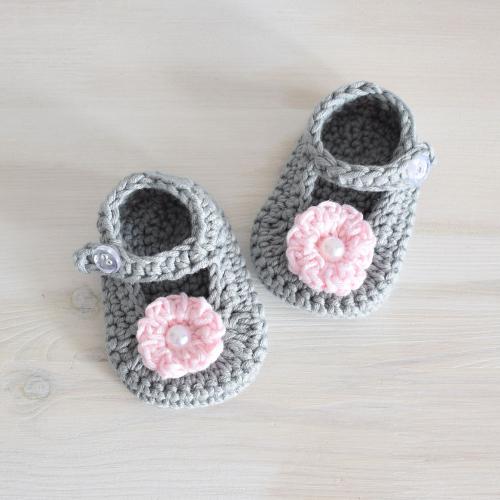 Buciki niemowlęce - GLORIA Cotton Blend - handmade - ALOM