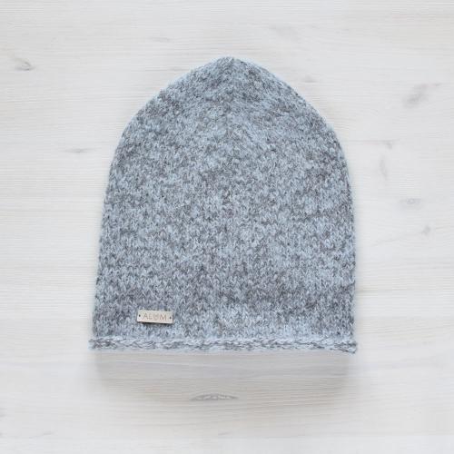 Damska czapka - efekt moheru -modny fason - rękodzieło - dobry skład - ALOM