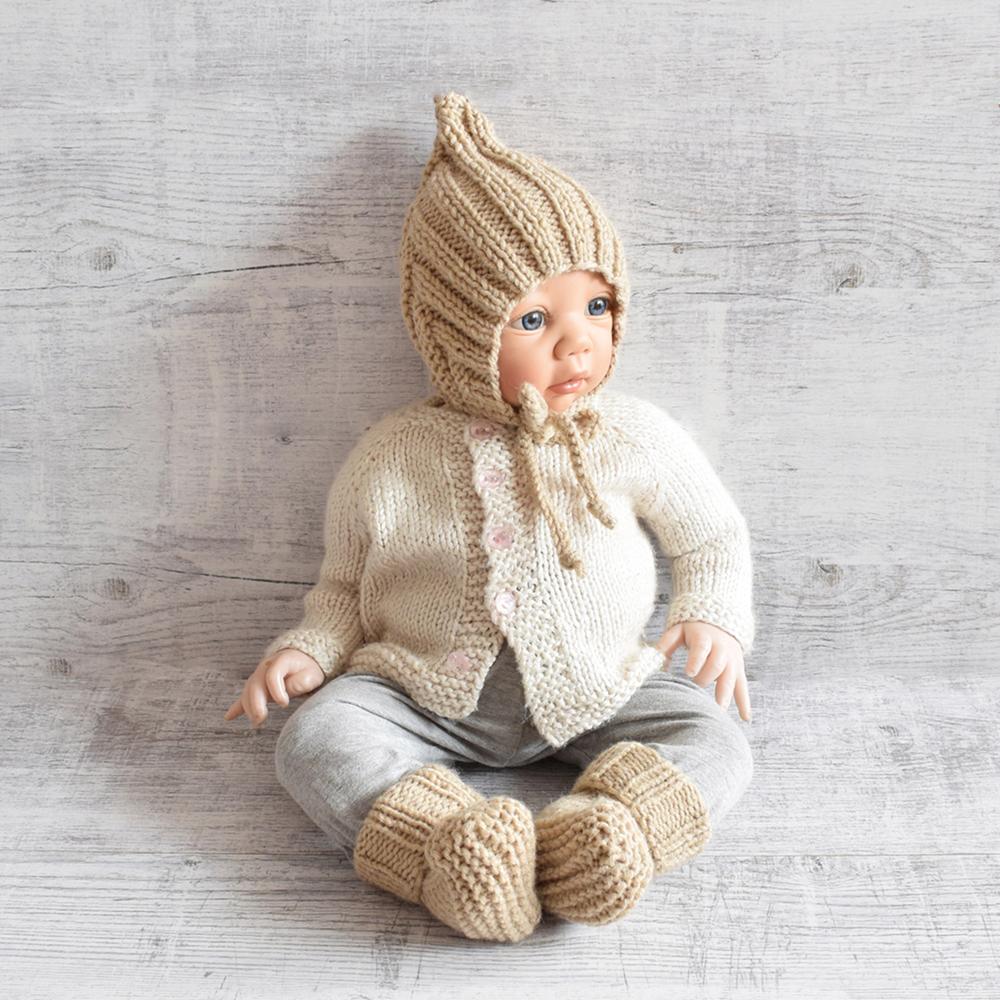 Komplet dla noworodka - kozaczki i bonetka - ALOM