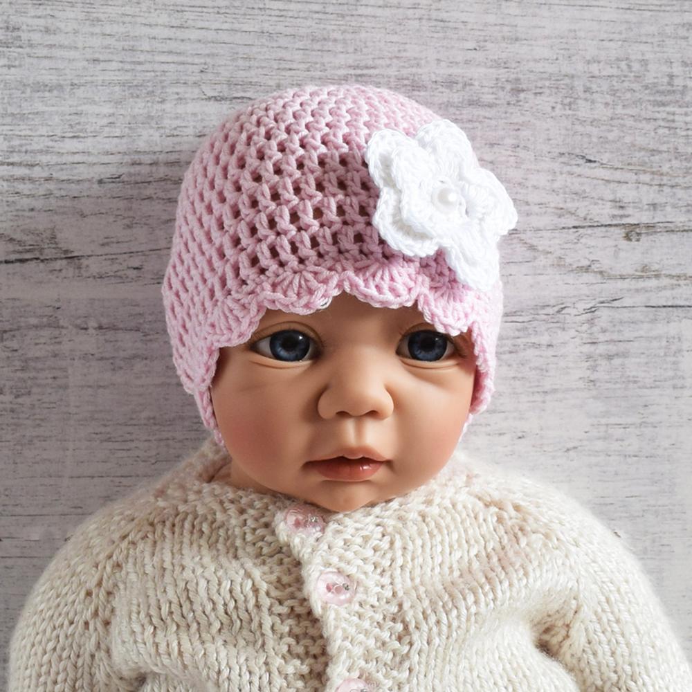 Czapeczka dla dziewczynki - prezent dla noworodka - ALOM