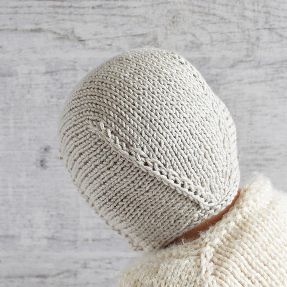 Czapka dla maluszka - ręcznie robiona na drutach - ALOM
