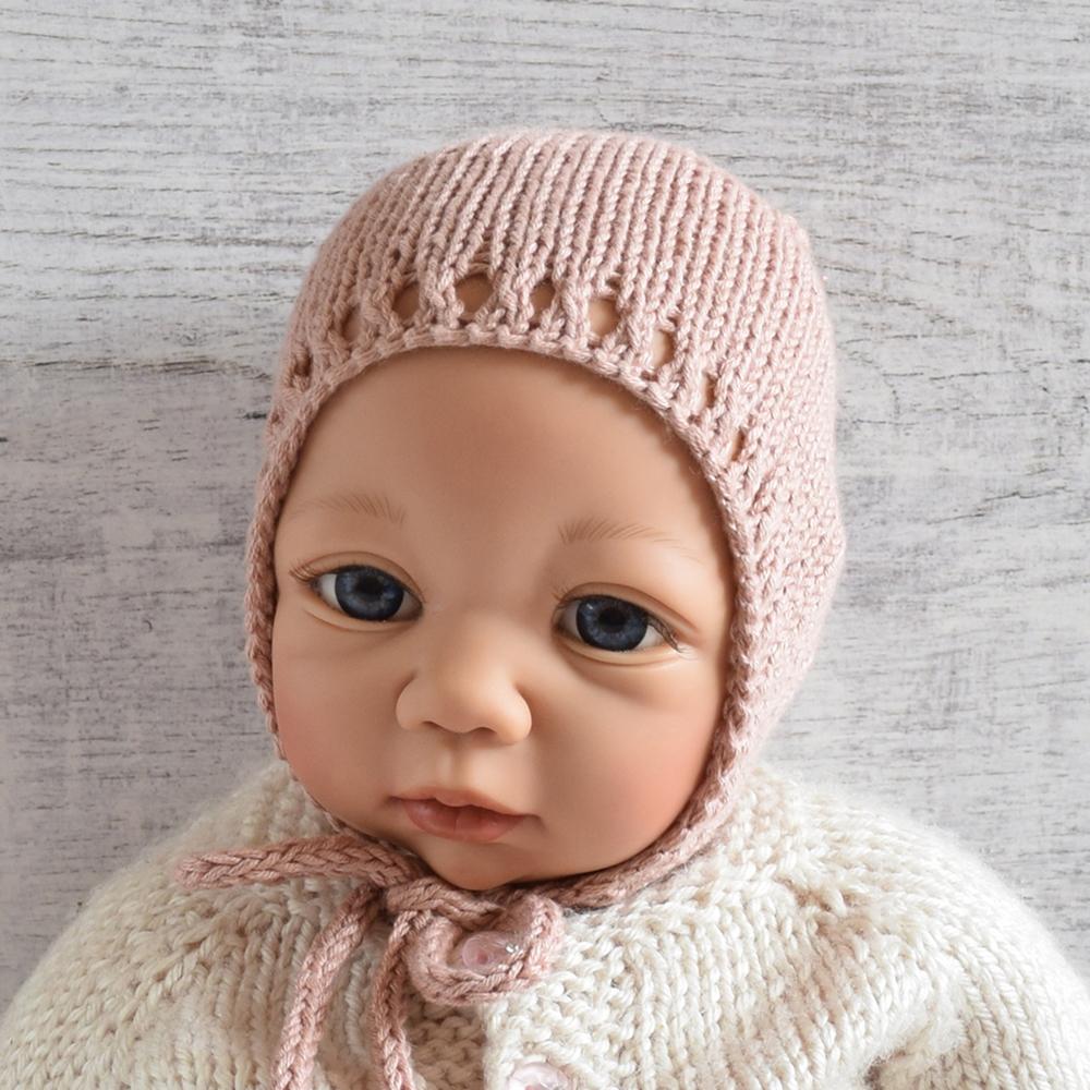 Czapeczka bonetka - handmade - retro - ALOM