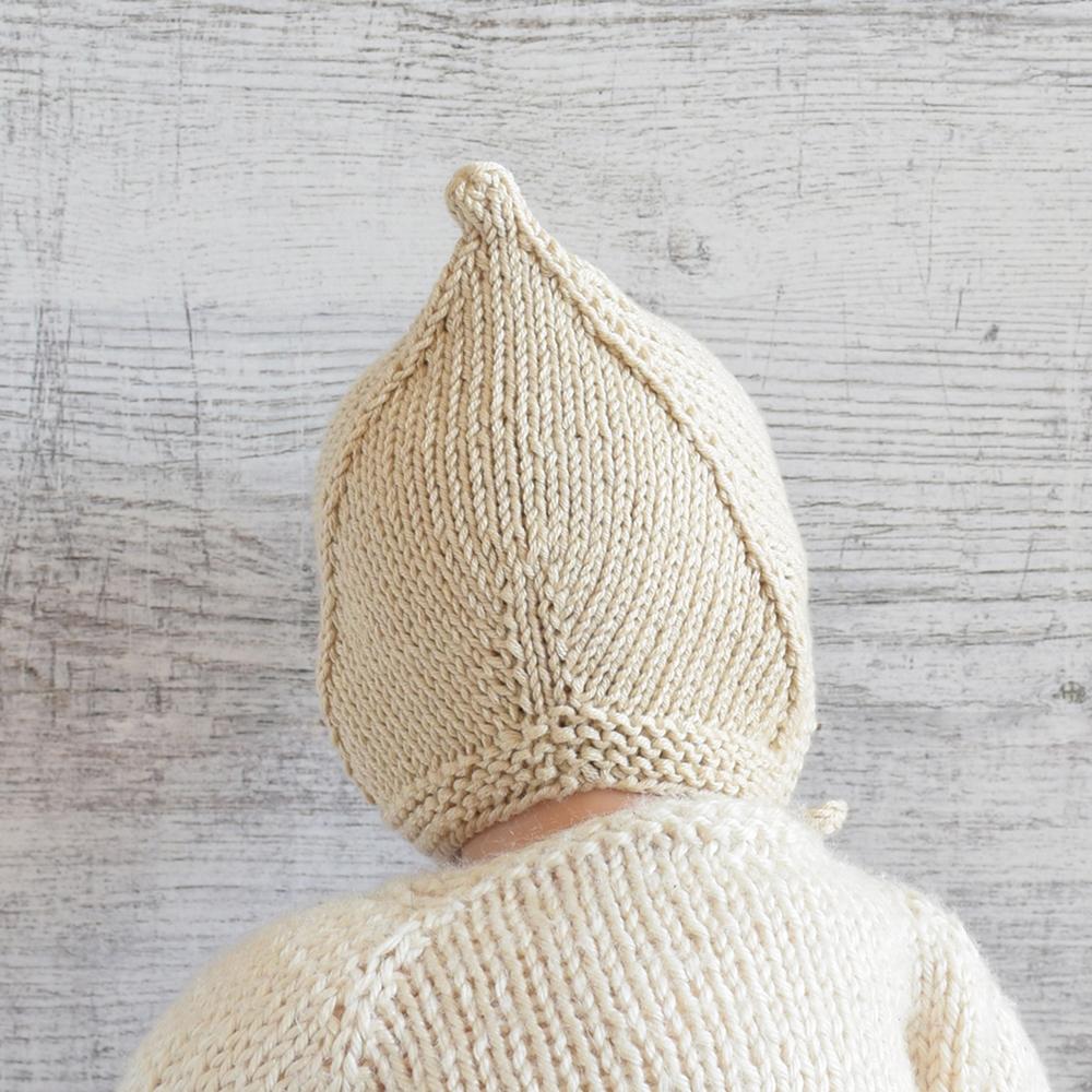 Czapeczka dla noworodka - ręcznie robiona - ALOM
