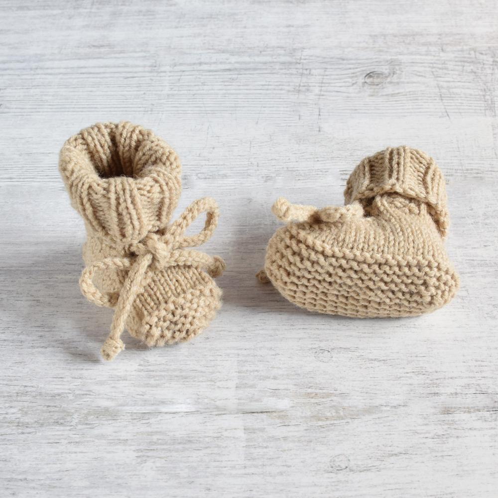 Buciki dla noworodka - grube i ciepłe - rękodzieło - ALOM