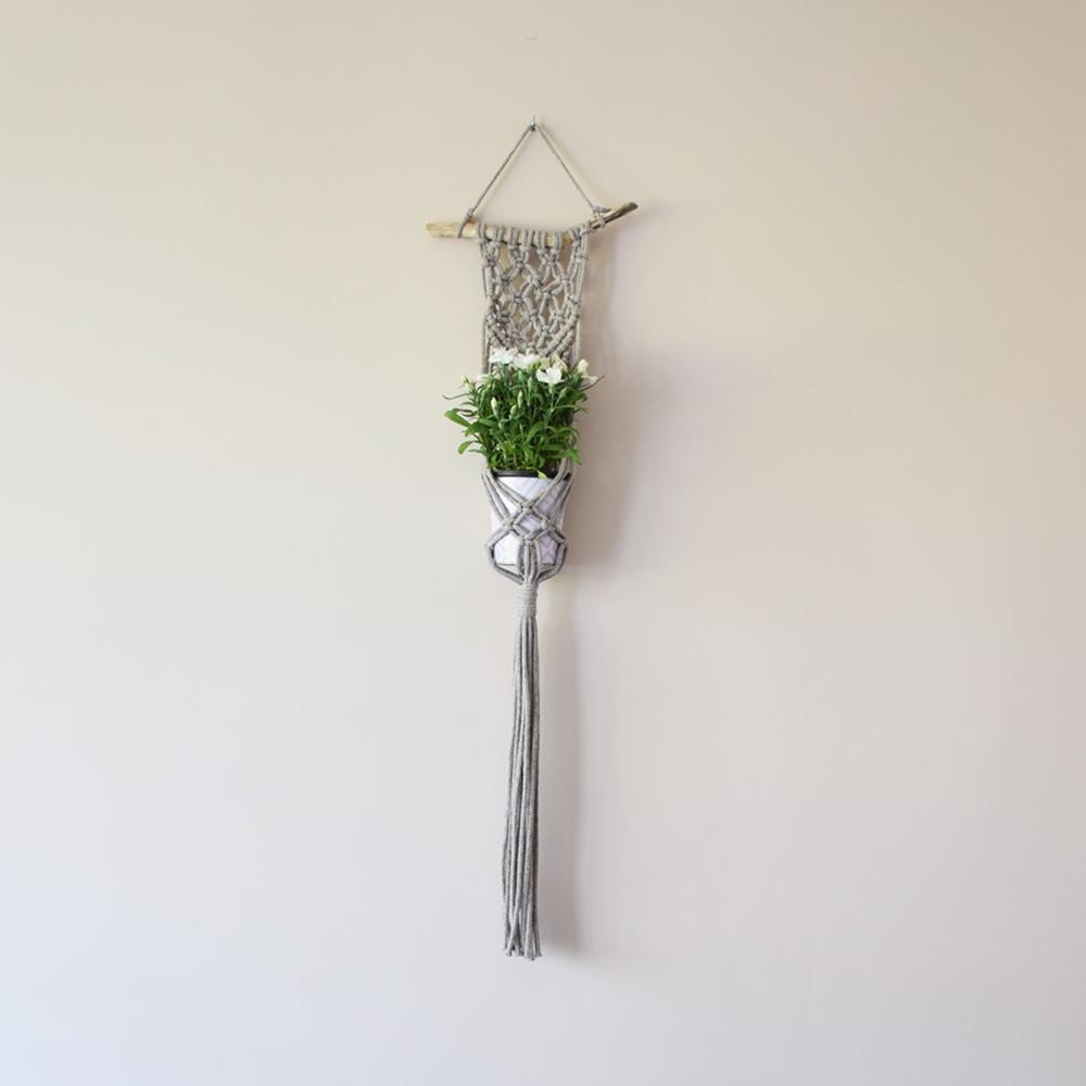 Makrama - kwietnik - pleciony ze sznurka - ALOM