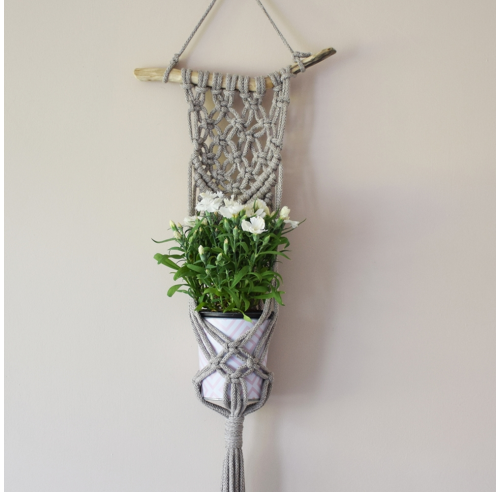 Kwietnik ze sznurka - makrama - handmade - ALOM