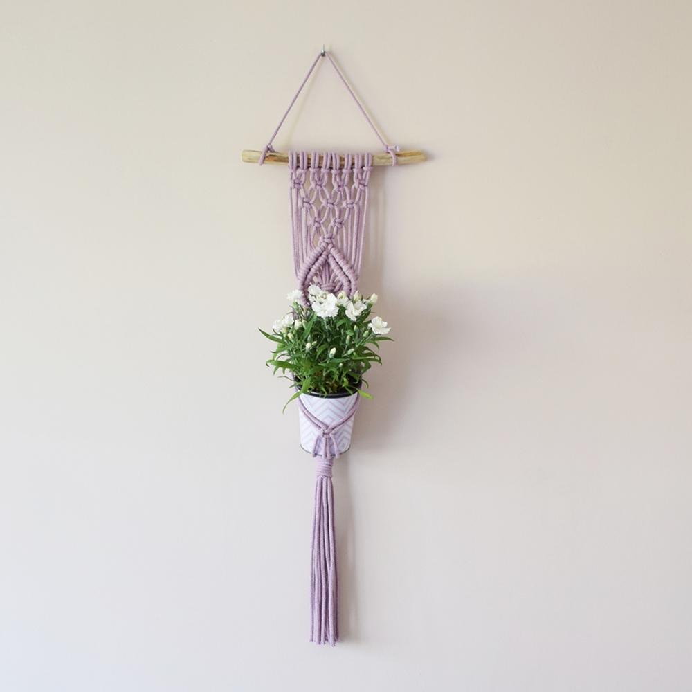Kwietnik ze sznurka - makrama ręcznie robiona - ALOM