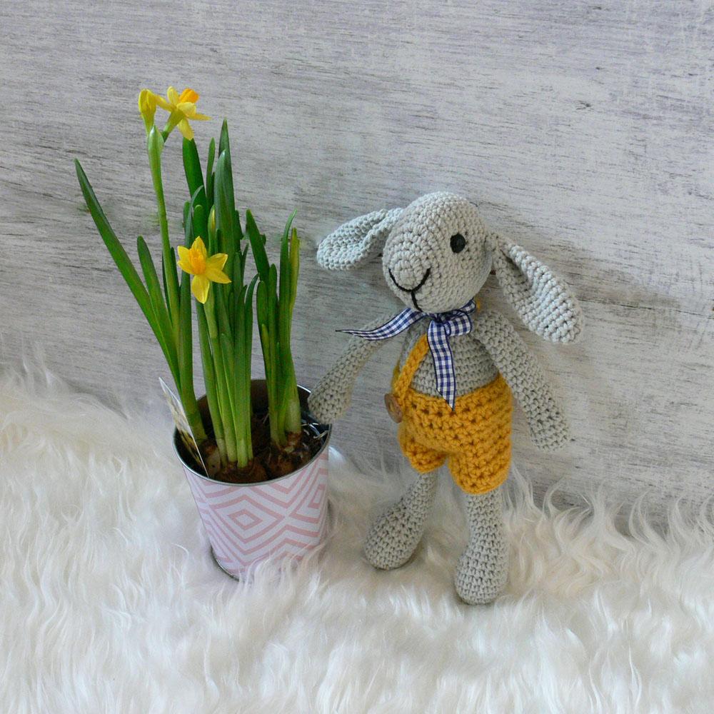 Szydełkowa maskotka - królik - handmade - ALOM