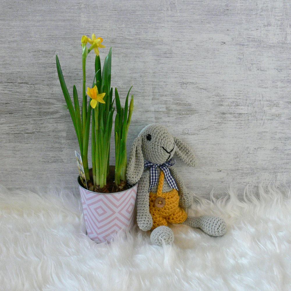 Przytulanka robiona ręcznie na szydełku - królik - ALOM
