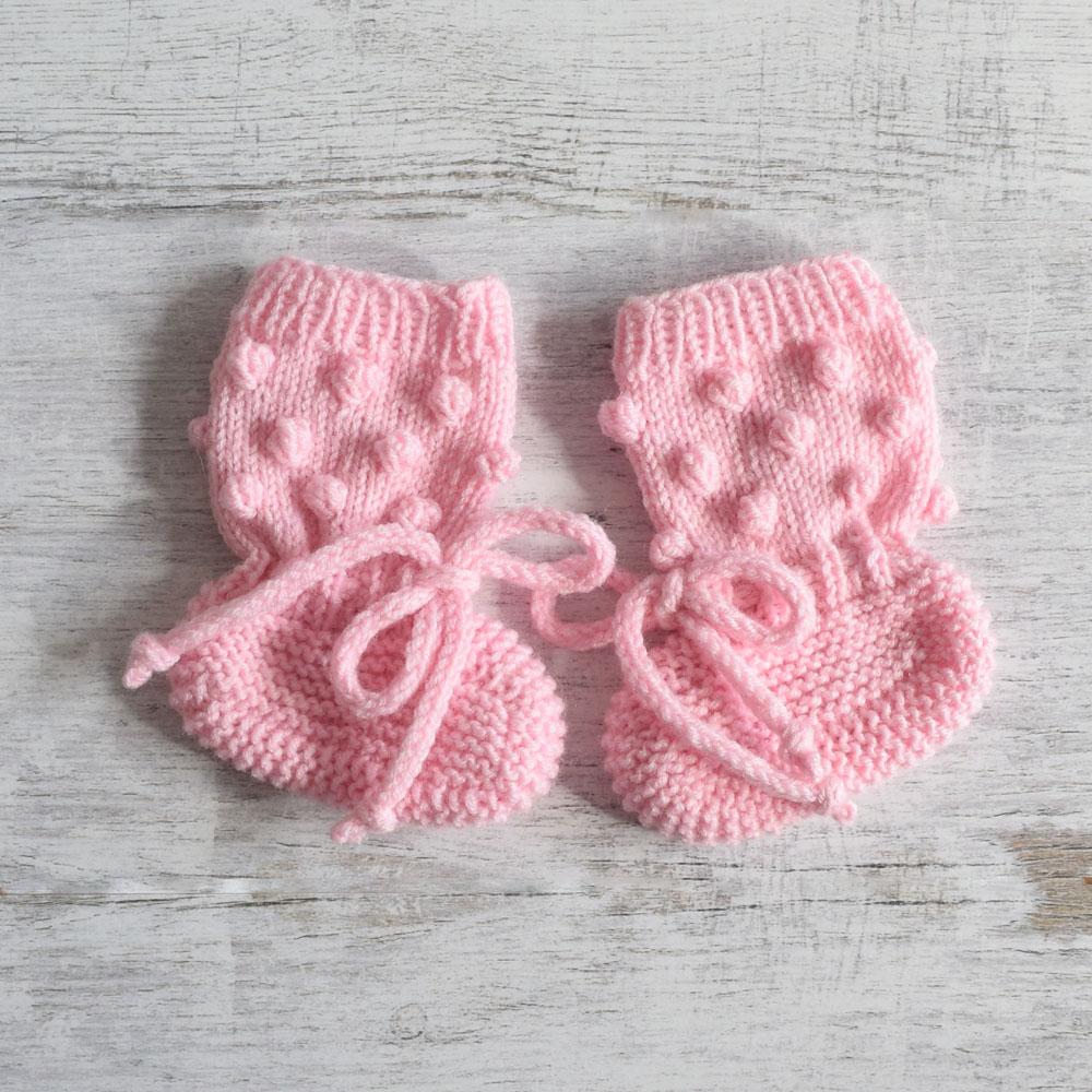 Buciki z bąbelkami - kozaczki - robione ręcznie na drutach - ALOM
