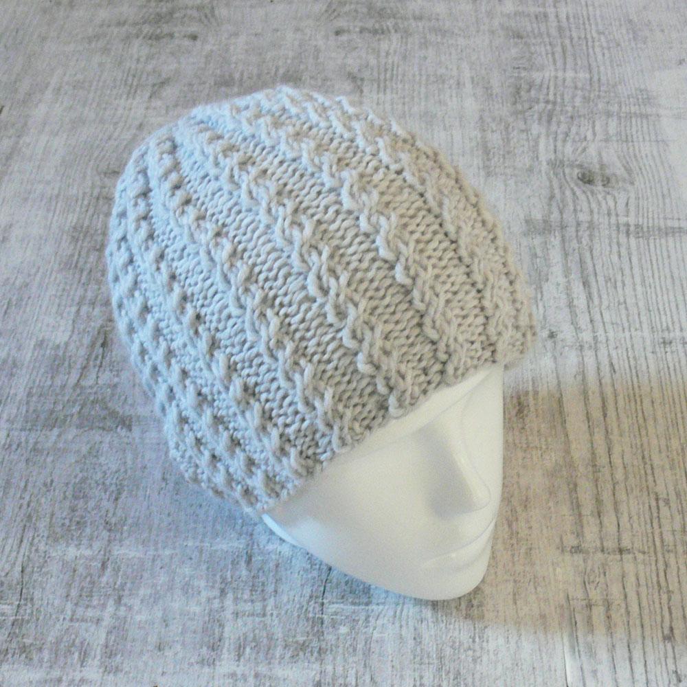 Czapka na zimę - ręcznie robiona na drutach - ALOM
